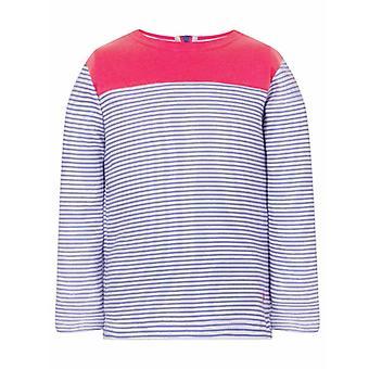 Lighthouse Daisy Girls Jersey Blush & Parma Violet Stripe
