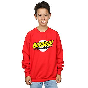 The Big Bang Theory Boys Sheldon Bazinga Sweatshirt