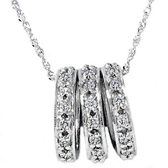 .50CT ك 14 الذهب الأبيض تمهيد الماس قلادة قلادة