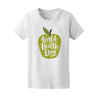 World Health Day Green Apple Tee Women's -Image by Shutterstock