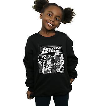 DC Comics Girls Justice League Stripes Sweatshirt