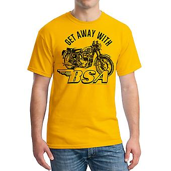 BSA komme væk med Motorclycle mænd Gold T-shirt