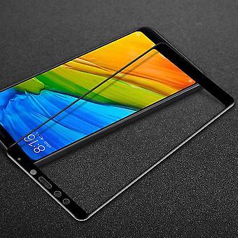 Premium 0.3 mm bent H9 tempered black glass slide for Xiaomi Redmi 5 protection
