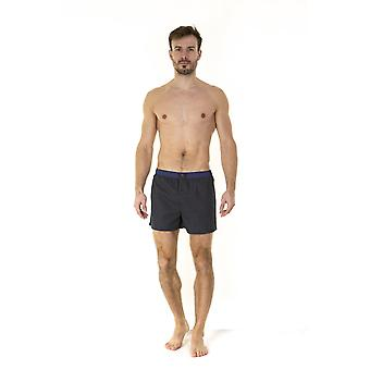 Haigman Mens Haigman Luxury Assorted Blue Gold Cotton Boxer End Of Mens Aisle 7