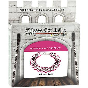 Chainmaille Bracelet Jewelry Kit-Princess Lace/Pink