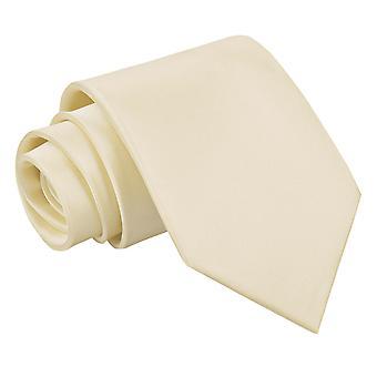 Champagne slätten Satin klassiska slips