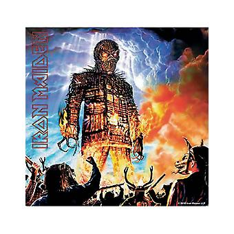 Iron Maiden Coaster Wicker Man new Official 9.5cm x 9.5cm single