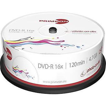 Primeon 2761205 lege DVD-R 4,7 GB 25 PC (s) spindel afdrukbare