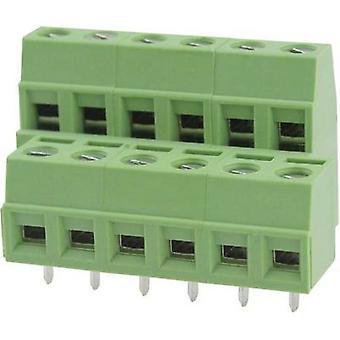 Degson DG127A-5.08-04P-14-00AH Screw terminal 2.08 mm² Number of pins 4 Green 1 pc(s)