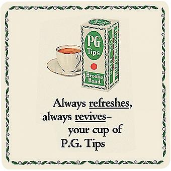 PG Tips siempre refresca bebidas Mat / montaña rusa