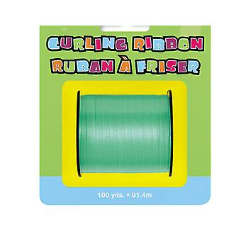 91m Green Curling Ribbon - 5mm Wide | Gift Wrap Supplies