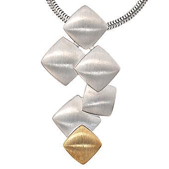 Anheng 925 /-s / 585 / -g-sjarm 925 sølv 585 gull matt finish bicolor