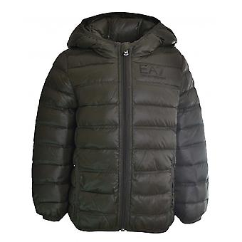 EA7 Boys Ea7 Kids Khaki Green Down Jacket
