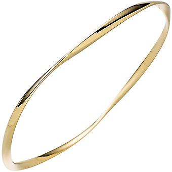 Bangle armband 925 sterling silver guldpläterade