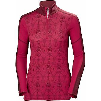 Helly Hansen Hh W Lifa Active Graphic 1/2 Zip - Red/Frost
