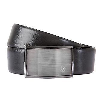 Correa de cuero Bugatti cinturones hombre cinturones puede acortarse automático hebilla Negro 160