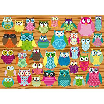 Schmidt Owl Collage Jigsaw Puzzle (500 Pieces)