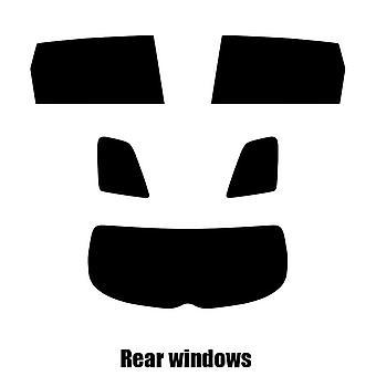 Pre gesneden venster tint - Subaru Tribeca - 2007 tot en met 2013 - achter windows