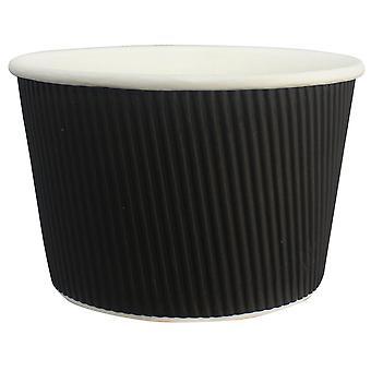 Go Pak Black Squat Medium Ripple Soup Pot 16oz