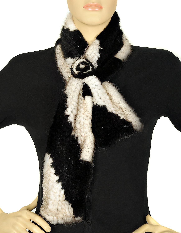 Waooh - Fur - stor hals mink svart