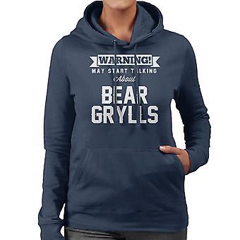 ADVERTENCIA puede empezar a hablar acerca sudadera con capucha de Bear Grylls mujeres