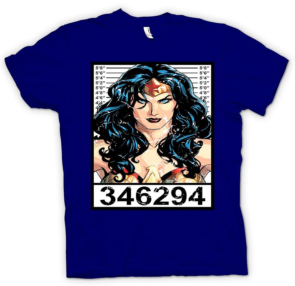 Mens T-shirt - Wonder Woman - Cartoon - Mug Shot