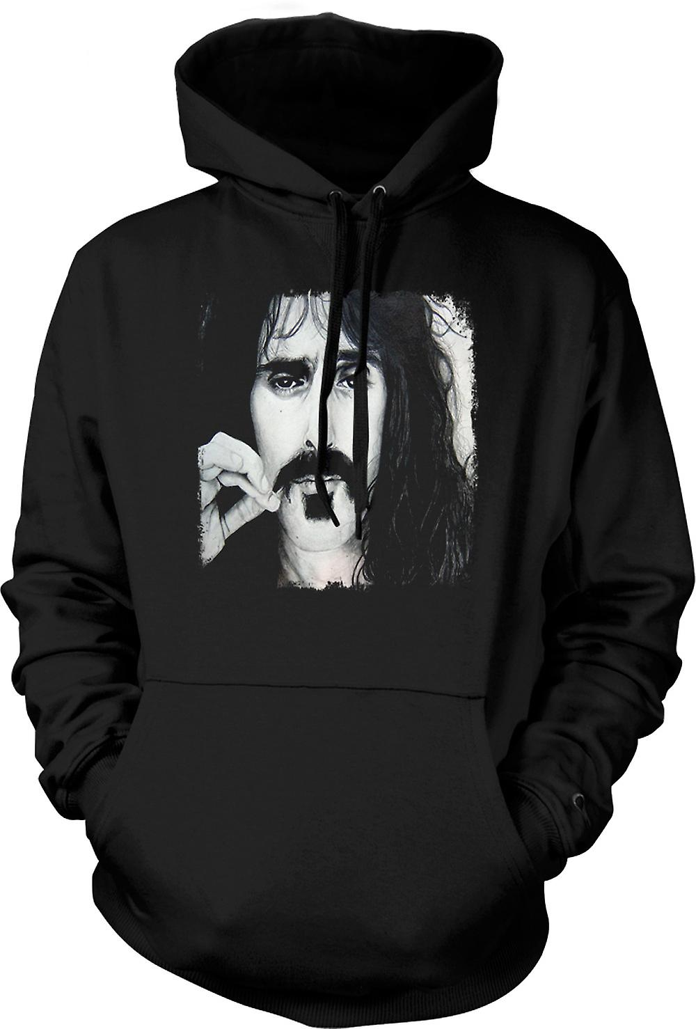 Mens Hoodie - Frank Zappa - Portrait Sketch