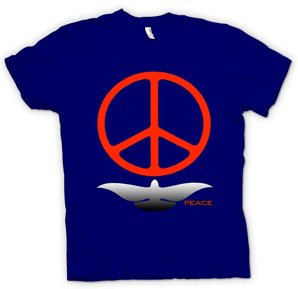 Heren T-shirt - Greenpeace Liefde Dove CND