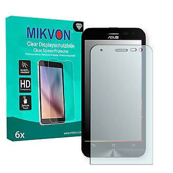 Asus ZenFone 2 Laser (ZE500KG) Screen Protector - Mikvon Clear (Retail Package with accessories)