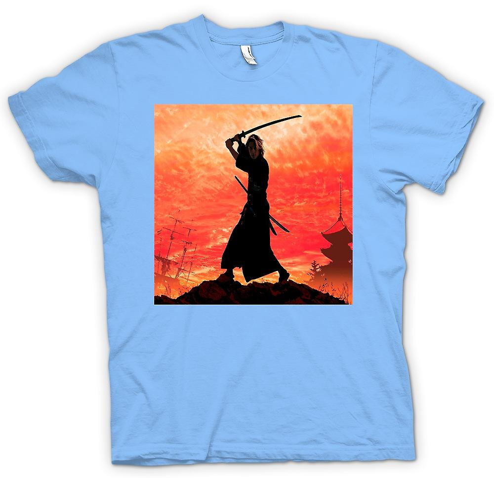 Mens T-shirt-Samurai Fighter