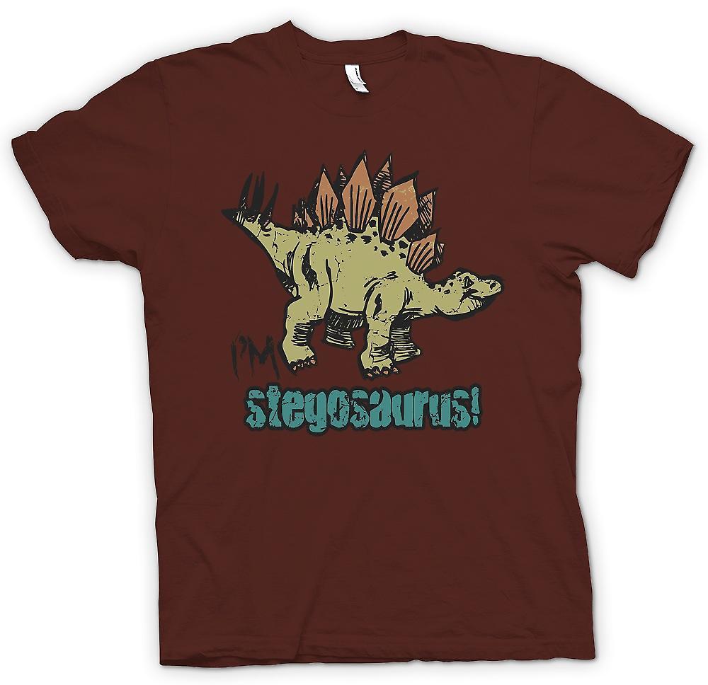 Dinosaurio Cool mens t-shirt - Im Stegosaurus-