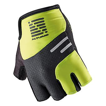 Altura Green-Black 2016 Podium Progel Fingerless Cycling Gloves