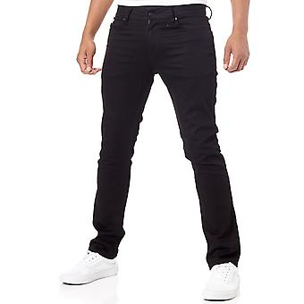 DC Black Rinse Worker Straight Stretch Jeans