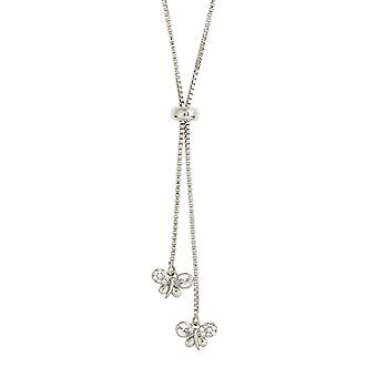 Bertha Willow Collection Women's 18k WG Plated Bolo Bee Fashion Necklace