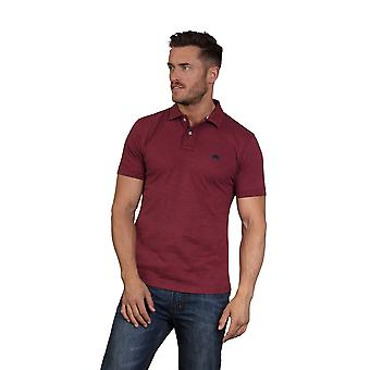 Embroidered Marl Polo - Claret