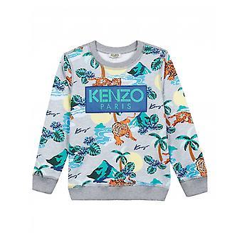 Kenzo børnene Finlay Logo Hawaiian Print sved
