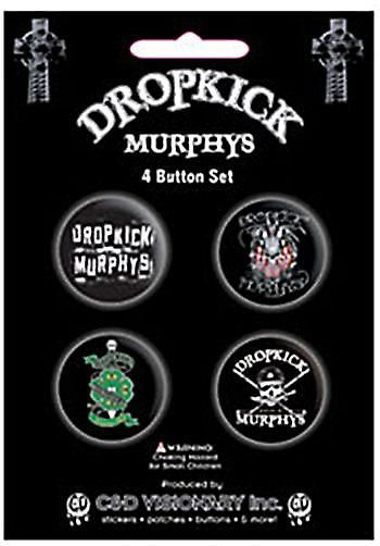 Dropkick Murphys 4 round Pin Badges in Pack (mm)
