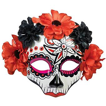 Día del cráneo muerto máscara para mujeres
