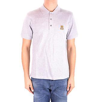 Camisa Polo de algodón gris de Moschino