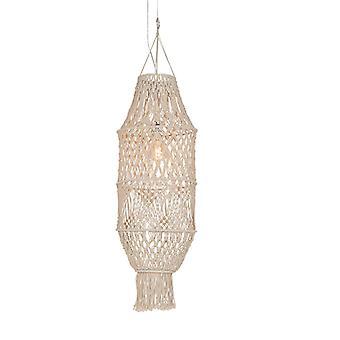 QAZQA Retro hanglamp met macrame kap 130 cm - String