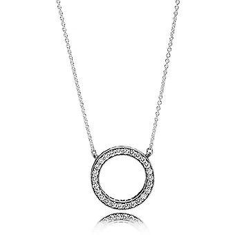 Halsband och hänge Pandora 590514CZ - halsband och hänge silver PANDORA kvinna