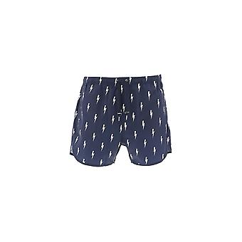Neil Barrett Blue Polyester Trunks