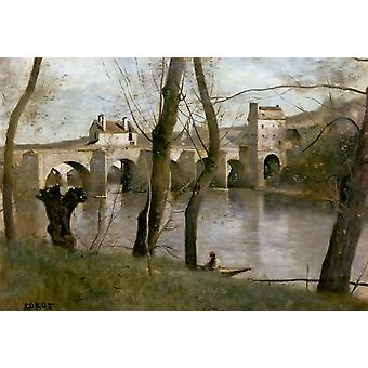 Мост мант, Коро, Камиль, 40x60cm с лотка