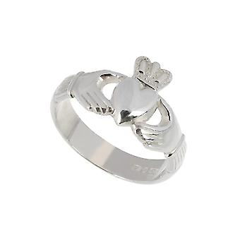 Sterling Silver Mens Claddagh Ring By Fallers of Galway