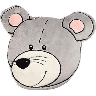Children's Plush Velour Cherry Stone Cushion: Mouse