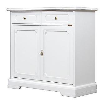 Weißes Sideboard 2 Türen 2 Schubladen