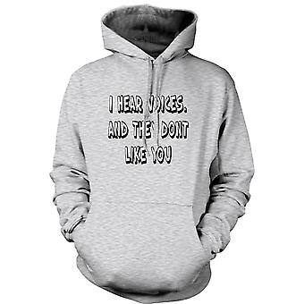 Womens Hoodie - I Hear Voices - Sixth Sense