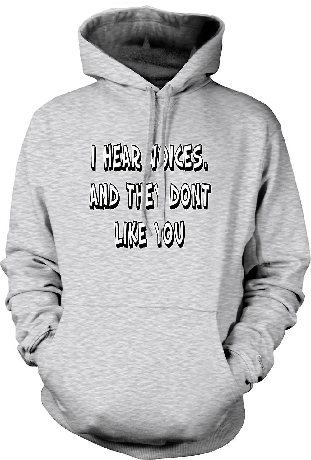 Mens Hoodie - I Hear Voices - Sixth Sense