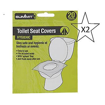 Bundle - Summit Festival / Camping Toilet Seat Covers Pack Of 20 - 2 Packs Of 20 Supplied