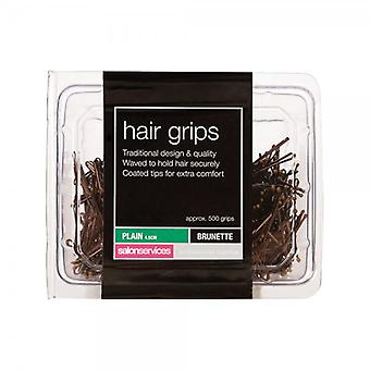 Salon Services Plain Hair Grip - Brown - Pack Of 500